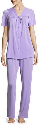 Asstd National Brand Lissome PolyTricot Short Sleeve Pajama Set