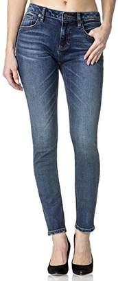 Miss Me Women's Mid Rinse Basic Skinny Denim Jean