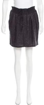 Edun Fringe-Accented Silk Skirt
