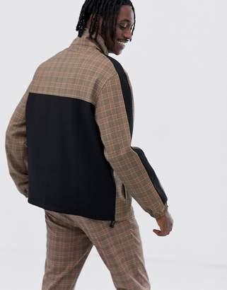 Mennace zip thru jacket in check