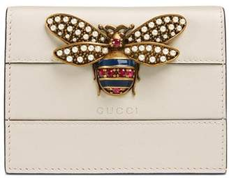 Gucci Queen Margaret leather card case