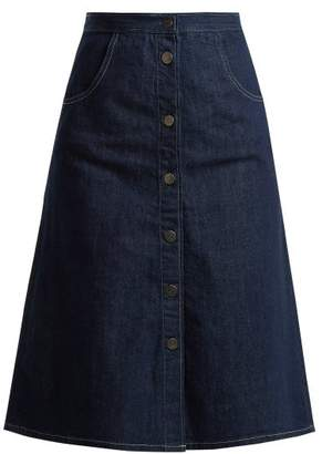 MiH Jeans Calcott Denim Skirt - Womens - Indigo