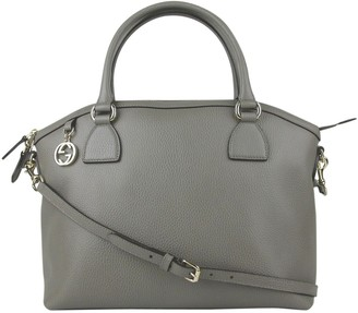 Gucci Dome Grey Leather Handbags