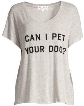 Wildfox Couture Can I Pet Your Dog Graphic Tee