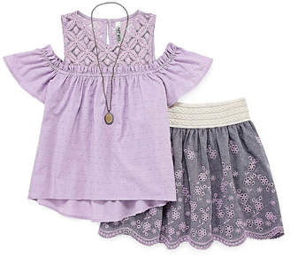 Knitworks Knit Works KNIT WORKS LACE COLD SHOULDER SKIRT SET - GIRLS' 4-16 & PLUS