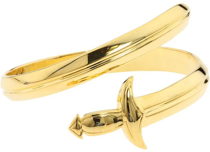 Noir Wrap Around Dagger Bracelet (Gold) - Jewelry