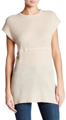 Cullen Short Sleeve Mixed Knit Cashmere Tunic $264 thestylecure.com