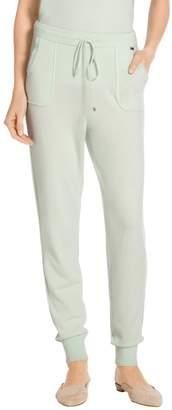 St. John Cashmere Jersey Knit Cropped Pant