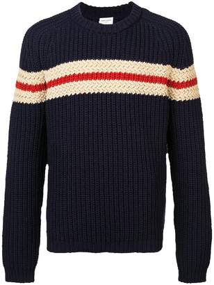 Saint Laurent chunky knit striped sweater