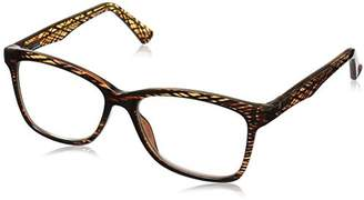 Foster Grant Women's Penelope 1017549-150.COM Square Reading Glasses