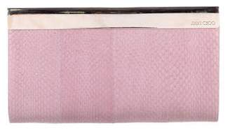 Jimmy Choo Metallic Snakeskin Frame Clutch