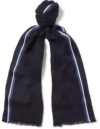 Loro Piana Striped Silk, Cashmere And Cotton-Blend Scarf