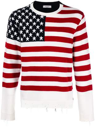 Valentino flag knit jumper