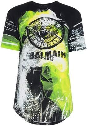 Balmain graphic logo print t-shirt