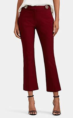 Derek Lam 10 Crosby Women's Clasp-Detailed Cotton Twill Slim Flared Trousers - Red