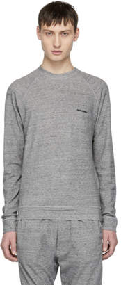 DSQUARED2 Grey Long Sleeve Soft Logo T-Shirt