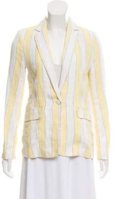 Frame Striped Linen Blazer