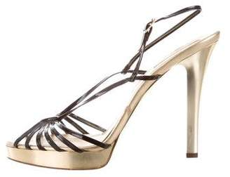 Michael Kors Metallic Multistrap Sandals