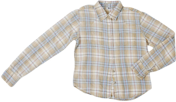 American Apparel Vintage Kids' Plaid Flannel Button-Up