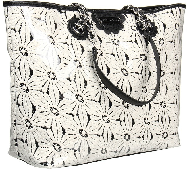 Betsey Johnson Oops A Daisy Tote (Black) - Bags and Luggage