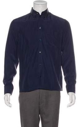 Versace Silk Button-Up Shirt
