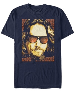 The Big Lebowski Men's The Dude Text Poster Short Sleeve T-Shirt