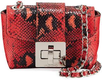 Mario Valentino Valentino By Paulette Small Python-Print Crossbody Bag