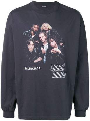 Balenciaga Speedhunters boyband jersey top