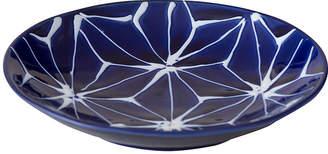 Japanese Porcelain 琉璃 麻の葉 小皿
