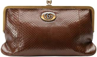 Gucci Ophidia python clutch