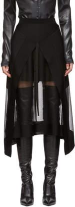 Alexander McQueen Black Sheer Panel Skirt
