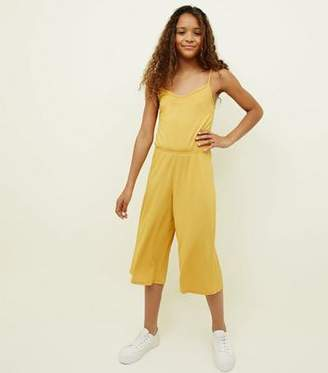 4c7c8c76e10 New Look Girls Mustard Ribbed Strappy Jumpsuit
