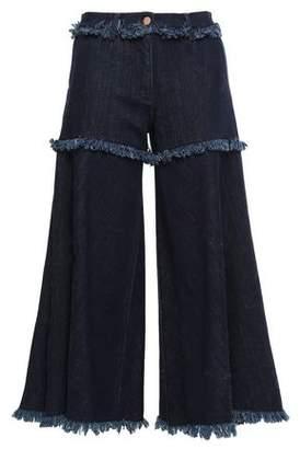 Osman Frayed Denim Culottes