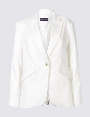Marks and Spencer PETITE Cotton Rich Blazer