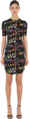Versace Vanitas Print Viscose Jersey Mini Dress