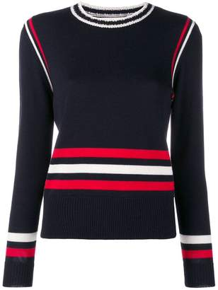 Parker Chinti & colour-block striped sweater