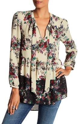 Daniel Rainn DR2 by Hi-Lo Peplum Tunic Blouse