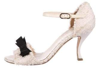 Chanel Bouclé Bow Sandals