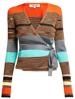 Diane Von Furstenberg - Striped Knitted Wrap Cardigan - Womens - Multi
