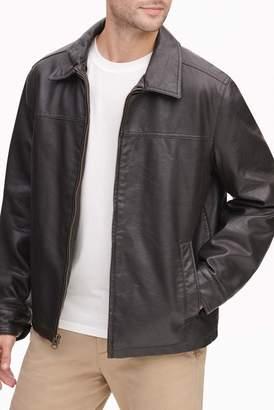 Dockers James Faux Leather Open-Bottom Jacket