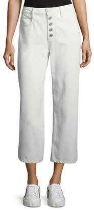 A.L.C. Montag Cropped Wide-Leg Cotton Pants
