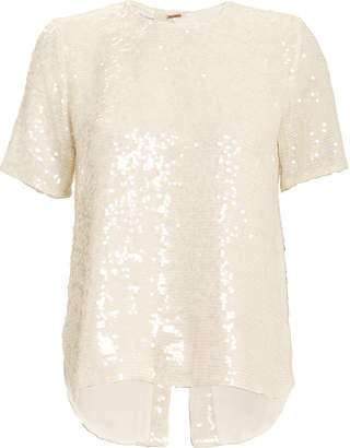 ADAM by Adam Lippes Sequin Embroidery T-Shirt
