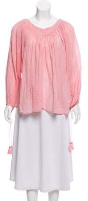 The Great Long Sleeve Pleated Top