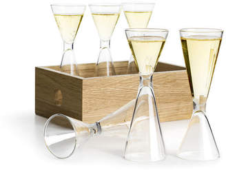Sagaform Nature Shot Glasses & Wood Storage Box