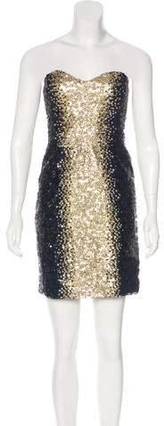 Monique Lhuillier Embellished Bustier Dress