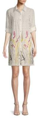 T Tahari Sabina Floral Cotton Shirtdress