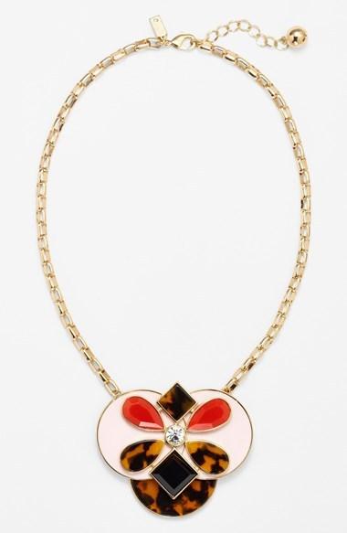 Kate Spade 'garden Path' Large Pendant Necklace
