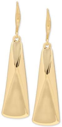 Robert Lee Morris Soho Gold-Tone Sculptural Rectangle Drop Earrings