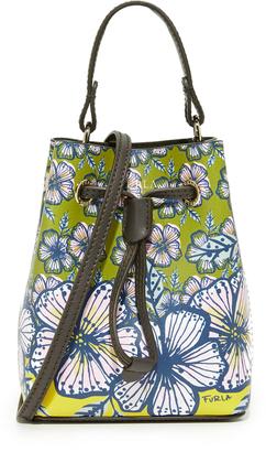 Furla Printed Stacy Mini Drawstring Bag $328 thestylecure.com