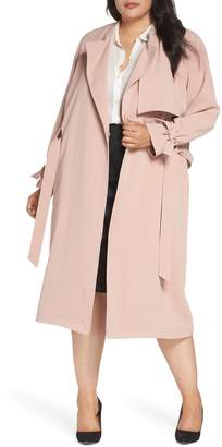 Rachel Roy Crepe Trench Coat